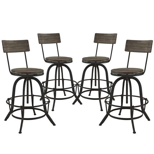 Procure Bar Stool Set of 4 - Brown