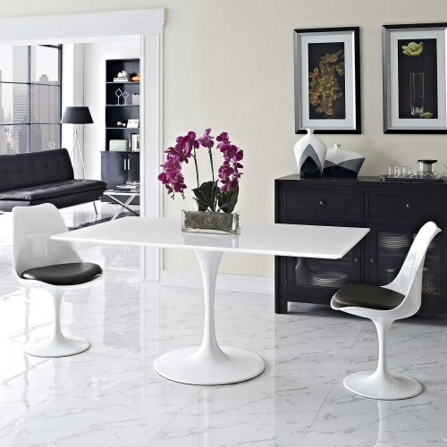Lippa 60 Rectangle Dining Table - White