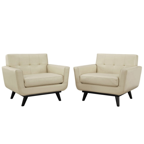 Engage Leather Sofa Set - Beige