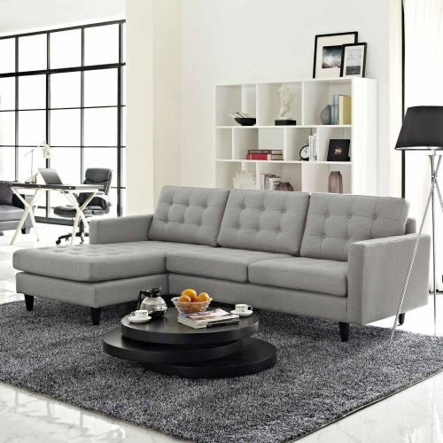 Empress Left-Arm Sectional Sofa - Light Gray