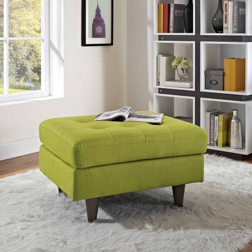 Empress Upholstered Ottoman - Wheatgrass