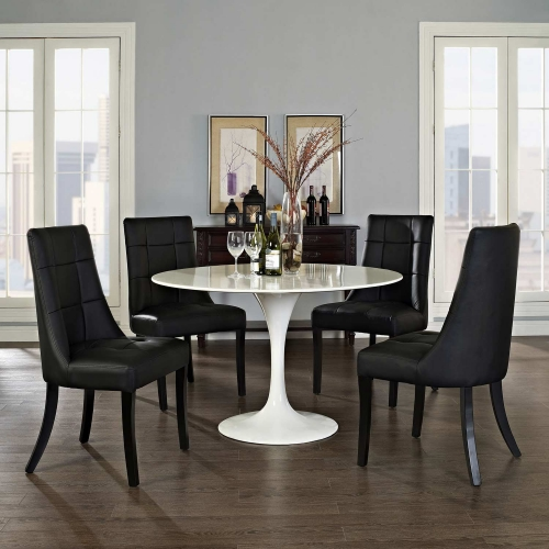 Noblesse Vinyl Dining Chair Set of 4 - Black