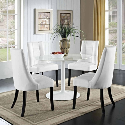 Noblesse Vinyl Dining Chair Set of 4 - White