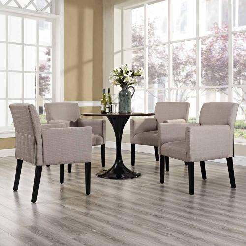Chloe Armchair Set of 4 - Beige
