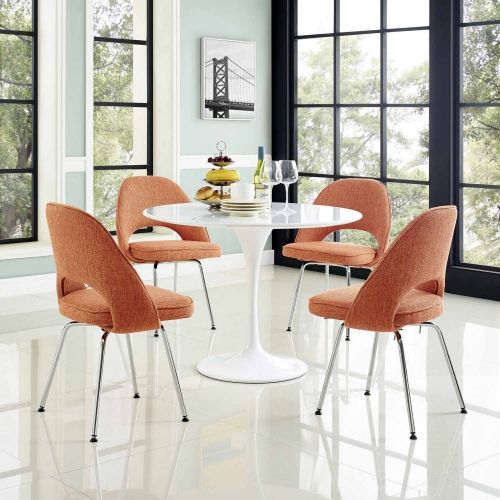 Cordelia Dining Chairs Set of 4 - Orange