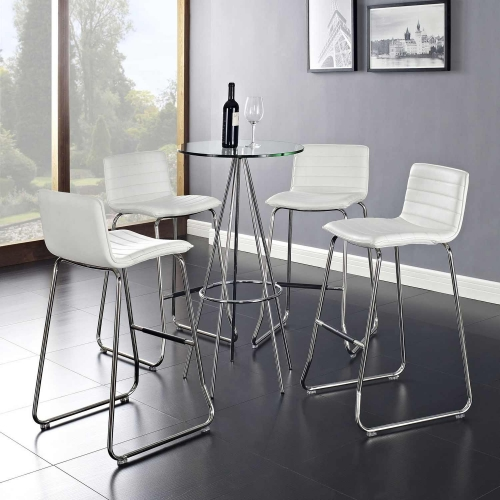 Dive Bar Stool Set of 4 - White