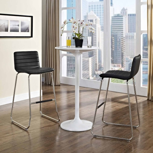 Dive Bar Stool Set of 2 - Black