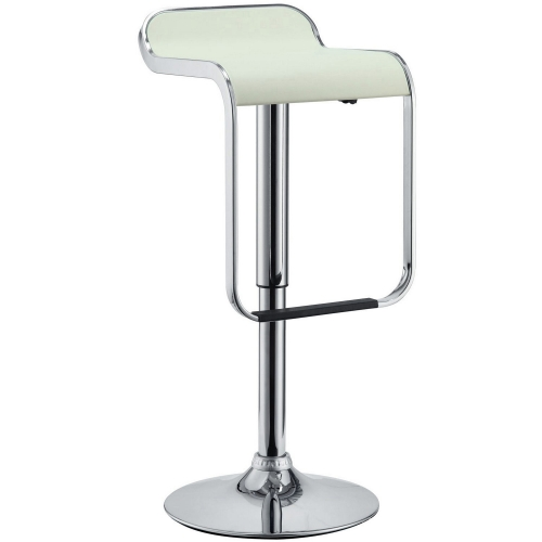LEM Vinyl Bar Stool - White