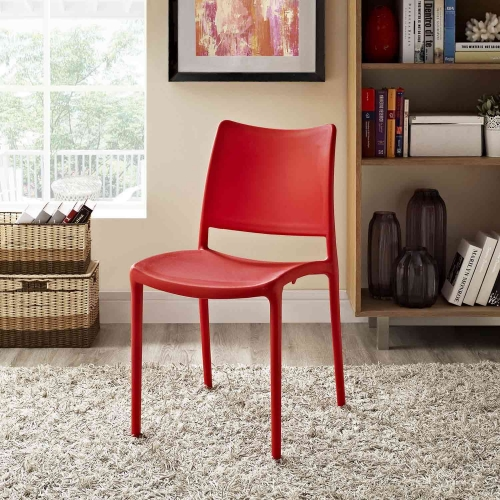 Hipster Dining Side Chair - Red