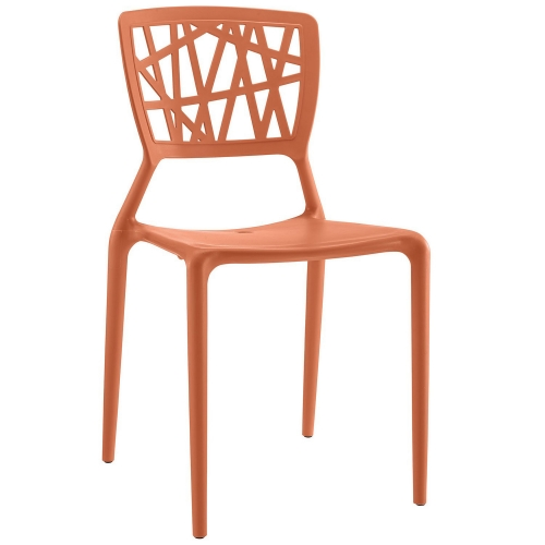 Astro Dining Side Chair - Orange