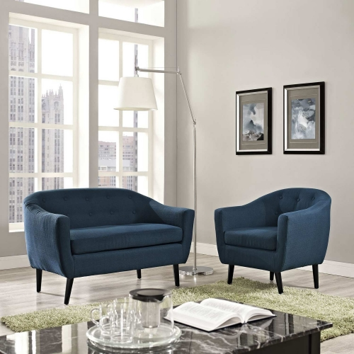 Wit 2 Piece Living Room Set - Azure