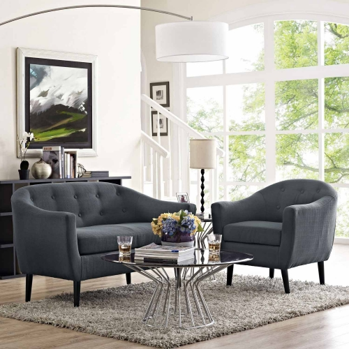 Wit 2 Piece Living Room Set - Gray