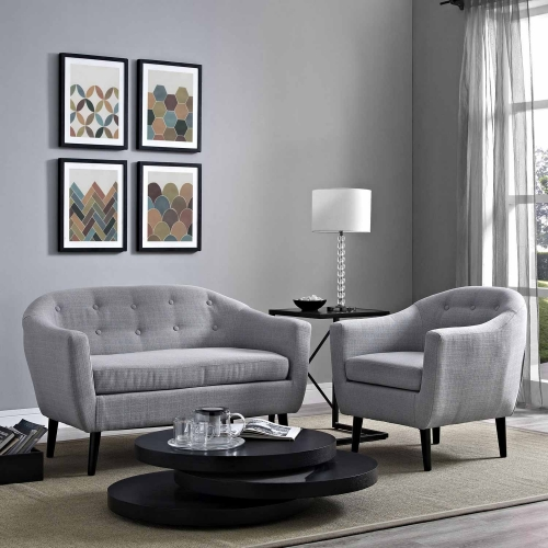 Wit 2 Piece Living Room Set - Light Gray