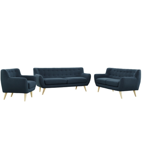 Remark 3 Piece Living Room Set - Azure