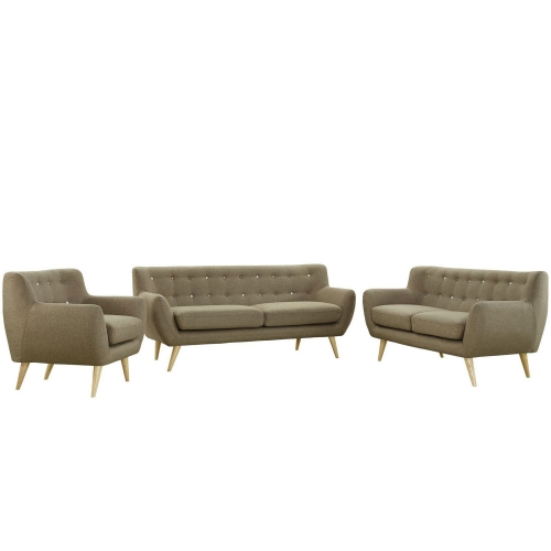 Remark 3 Piece Living Room Set - Brown