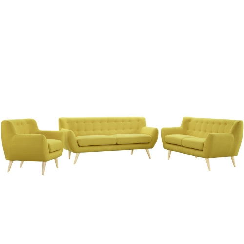 Remark 3 Piece Living Room Set - Sunny