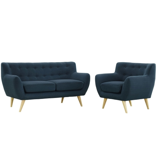 Remark 2 Piece Living Room Set - Azure