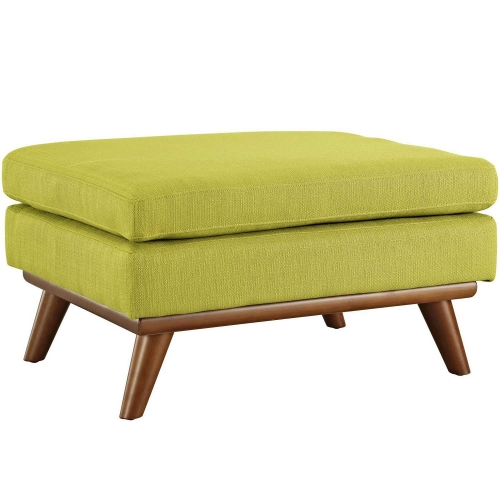 Engage Fabric Ottoman - Wheatgrass