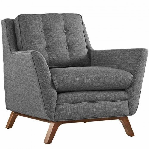 Beguile Fabric Arm Chair - Gray