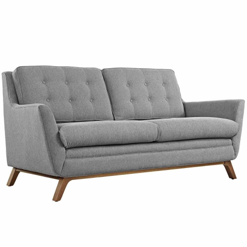 Beguile Fabric Loveseat - Expectation Gray
