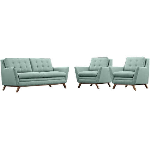 Beguile Fabric Sofa Set - Expectation Gray