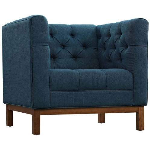 Panache Fabric Arm Chair - Azure