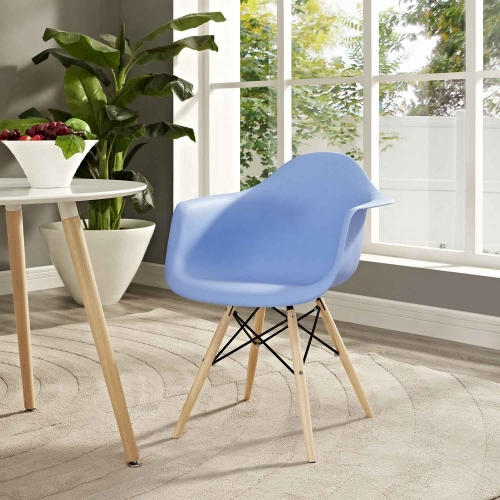 Pyramid Dining Armchair - Blue