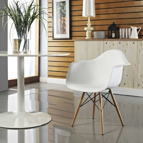 Pyramid Dining Armchair - White