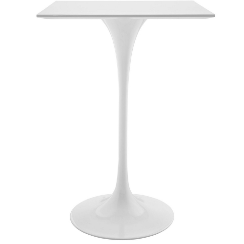 Lippa 28-inch Square Wood Top Bar Table - White