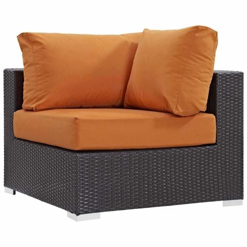 Modway Convene Outdoor Patio Corner - Espresso Orange