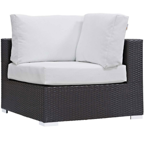 Modway Convene Outdoor Patio Corner - Espresso White