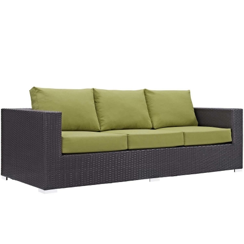 Modway Convene Outdoor Patio Sofa - Espresso Peridot