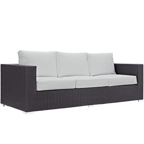 Modway Convene Outdoor Patio Sofa - Espresso White