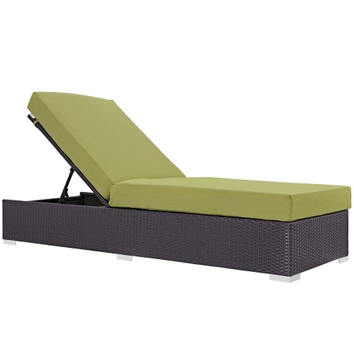 Convene Outdoor Patio Chaise Lounge - Espresso Peridot
