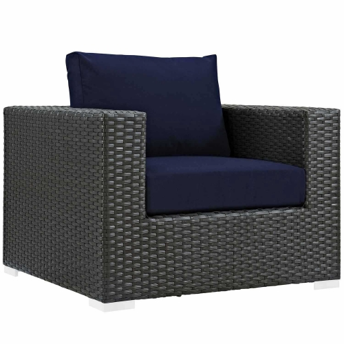 Sojourn Outdoor Patio Sunbrella Arm Chair - Canvas Navy