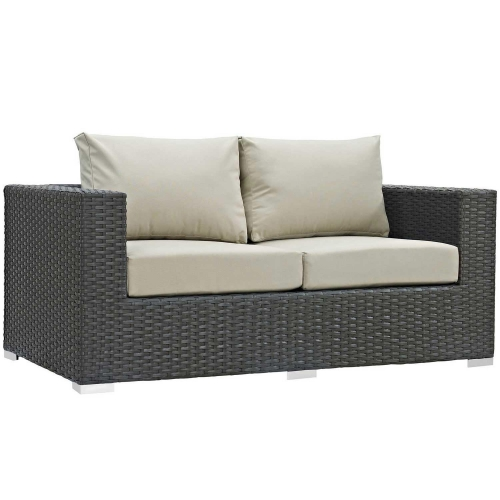 Sojourn Outdoor Patio Sunbrella Loveseat - Canvas Antique Beige