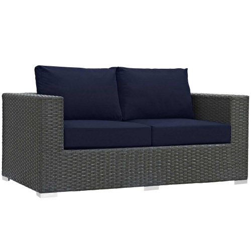 Sojourn Outdoor Patio SunbrellaLoveseat - Canvas Navy
