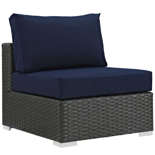 Sojourn Outdoor Patio Fabric Sunbrella Armless - Canvas Navy