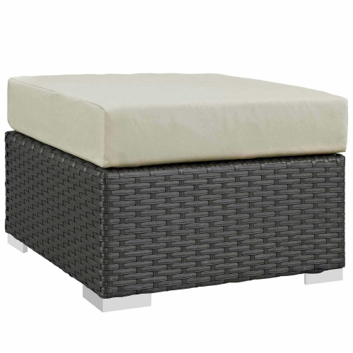 Sojourn Outdoor Patio Sunbrella Ottoman - Canvas Antique Beige