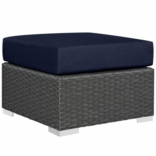 Sojourn Outdoor Patio Sunbrella Ottoman - Canvas Navy