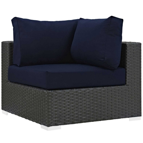 Sojourn Outdoor Patio Sunbrella Corner - Canvas Navy