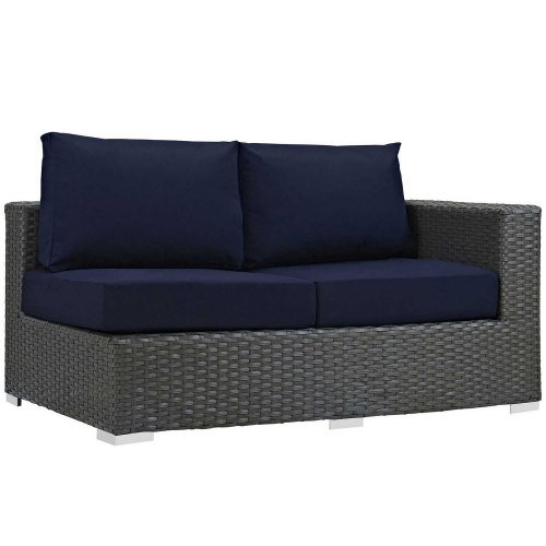 Sojourn Outdoor Patio SunbrellaRight Arm Loveseat - Canvas Navy