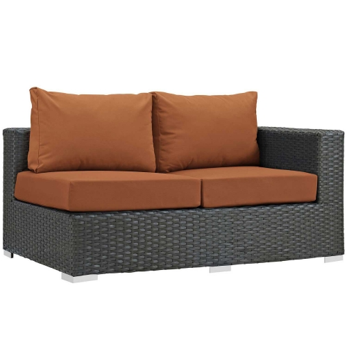 Sojourn Outdoor Patio SunbrellaRight Arm Loveseat - Canvas Tuscan