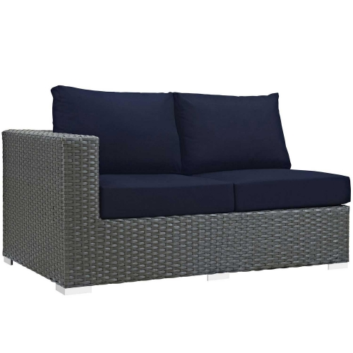 Sojourn Outdoor Patio SunbrellaLeft Arm Loveseat - Canvas Navy