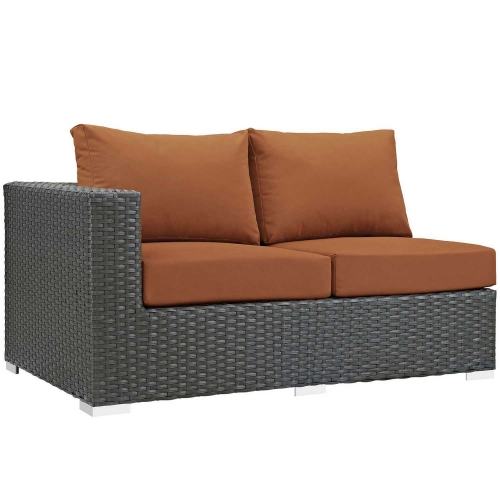 Sojourn Outdoor Patio SunbrellaLeft Arm Loveseat - Canvas Tuscan
