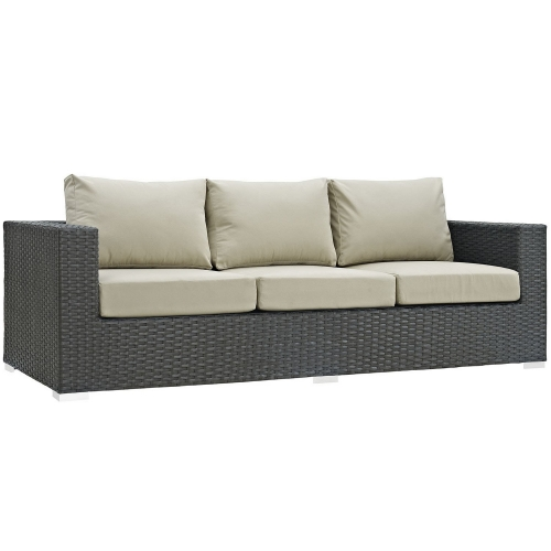 Sojourn Outdoor Patio Sunbrella Sofa - Canvas Antique Beige