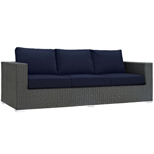 Sojourn Outdoor Patio Sunbrella Sofa - Canvas Navy
