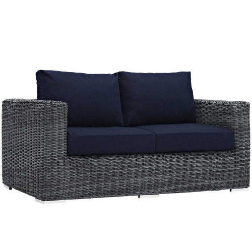Summon Outdoor Patio SunbrellaLoveseat - Canvas Navy