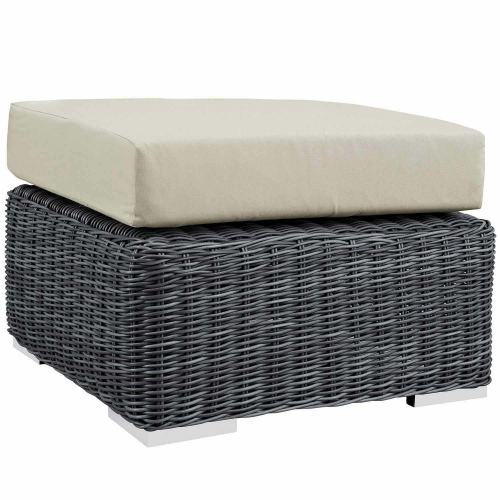 Summon Outdoor Patio Sunbrella Ottoman - Canvas Antique Beige