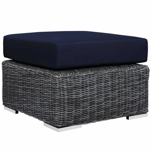Summon Outdoor Patio Sunbrella Ottoman - Canvas Navy